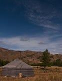 Yurta in der Steppe Lizenzfreies Stockfoto