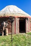 Yurta - die nomadischen Völker von Asien-Haus stockbild