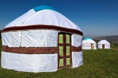 Yurta - die nomadischen Völker von Asien-Haus stockfoto