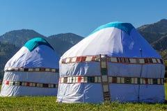 Yurta - koczowniczy zaludnia Azja dom Fotografia Royalty Free