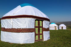 Yurta - la gente nómada de la casa de Asia Foto de archivo