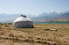 Yurtas. Yurt in Kyrgyzstan, in coast of Issik-Kul Stock Photography