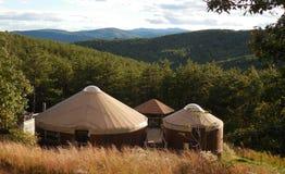 Yurthuis in de bergen van het Noordencarolina appalachian Royalty-vrije Stock Foto