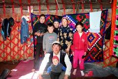 Yurtkamp in centraal Azië stock afbeelding