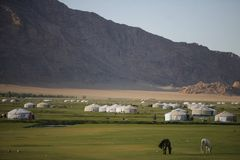 Yurts Images libres de droits