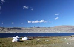 山yurts 库存照片