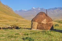 Yurts em Quirguizistão Fotos de Stock Royalty Free