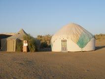 Yurts en Uzbekistan Imagen de archivo libre de regalías