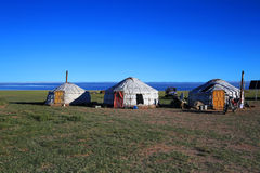 Yurts on the grasslands of Inner Mongolia Stock Images