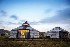 Yurts on the grasslands of Inner Mongolia Royalty Free Stock Images