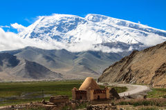 Yurts on Karakul Lake. Kashgar, China Royalty Free Stock Image