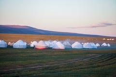 Yurts in Kyrgyzstan royalty-vrije stock afbeeldingen
