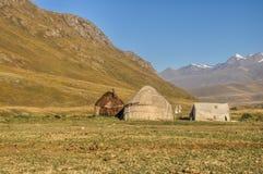 Yurts in Kyrgyzstan royalty-vrije stock foto's