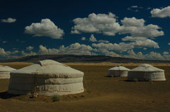 Yurts in Mongolia Royalty Free Stock Images