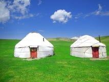Yurts nel Kirghizistan immagini stock libere da diritti