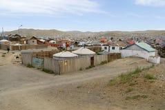 Yurts in the suburb of Ulaanbaatar city, Mongolia. Royalty Free Stock Photo