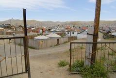 Yurts in the suburb of Ulaanbaatar city, Mongolia. Stock Photo