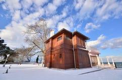 Yuruyen Kosk Yalova Turkey. Yalova Turkey and winter snow Stock Image