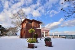 Yuruyen Kosk Yalova Turkey. Yalova Turkey and winter snow Stock Photo
