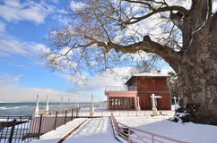 Yuruyen Kosk Yalova Turkey. Yalova Turkey and winter snow Stock Images