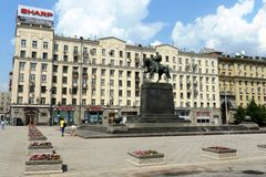 Yury Dolgoruky monument in Moscow Royalty Free Stock Image