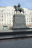 Yury Dolgoruky Monument in Moscow. Spring Stock Photography