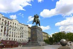 Yury Dolgoruky Monument op het vierkant Stock Foto
