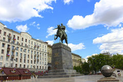 Yury Dolgoruky Monument on the square. In Moscow Stock Photo