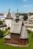Yuryev-Polsky Hölzerne Kirche von St George Stockbild