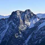 Yushan national park Mt. jady east peak. The yushan east peak looks a littel be like an elephant Stock Image