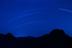 Yushan Star Trails Stock Images
