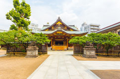 Yushima Tenman-Gu Shrine Front Entrance Centered H. Centered front entrance to Yushima Tenman-Gu Shinto Shrine on a sunny summer day in Tokyo, Japan. Horizontal Royalty Free Stock Images
