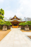 Yushima Tenman-Gu Shrine Front Entrance Centered V Royalty Free Stock Photo