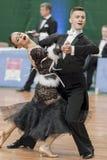 Yushkevich Aleksei and Apraksina Anastasiya perform Youth-2 Standard Program Stock Photo
