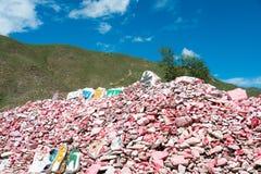 YUSHU (JYEKUNDO), ΚΊΝΑ - 12 Ιουλίου 2014: Ναός Mani (Mani Shicheng) Στοκ φωτογραφία με δικαίωμα ελεύθερης χρήσης