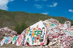 YUSHU (JYEKUNDO), ΚΊΝΑ - 12 Ιουλίου 2014: Ναός Mani (Mani Shicheng) Στοκ εικόνα με δικαίωμα ελεύθερης χρήσης