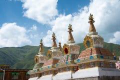 YUSHU (JYEKUNDO), ΚΊΝΑ - 12 Ιουλίου 2014: Ναός Mani (Mani Shicheng) Στοκ Εικόνες