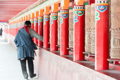 YUSHU (JYEKUNDO), ΚΊΝΑ - 13 Ιουλίου 2014: Ναός Mani (Mani Shicheng) Στοκ Φωτογραφία