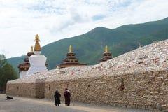 YUSHU (JYEKUNDO), ΚΊΝΑ - 13 Ιουλίου 2014: Ναός Mani (Mani Shicheng) Στοκ Φωτογραφίες
