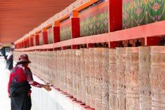 YUSHU (JYEKUNDO), ΚΊΝΑ - 13 Ιουλίου 2014: Ρόδα Mani, ναός Mani (μΑ Στοκ Φωτογραφία
