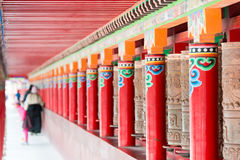 YUSHU (JYEKUNDO), ΚΊΝΑ - 13 Ιουλίου 2014: Ρόδα Mani, ναός Mani (μΑ Στοκ Εικόνα