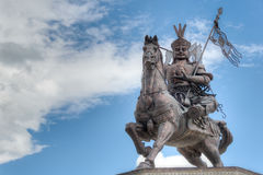 YUSHU(JYEKUNDO), CHINA - Jul 12 2014: King Gesar statue. a famou Stock Photography