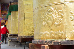 YUSHU(JYEKUNDO), CHINA - Jul 13 2014: Mani wheel, Mani Temple(Ma Stock Photos