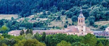 Yuso Monastery in San Millan de La Cogolla, La Rioja. Spain stock photos