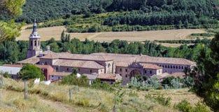 Yuso Monastery in San Millan de La Cogolla, La Rioja. Spain stock photo