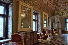 Yusupov Palace in Moscow. The throne room. Yusupov Palace in Moscow in Bolshoi Karitonevsky lane - one of the oldest civil buildings in the capital. The Royalty Free Stock Photo