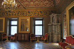 Yusupov Palace in Moscow. The throne room. Yusupov Palace in Moscow in Bolshoi Karitonevsky lane - one of the oldest civil buildings in the capital. The Royalty Free Stock Image