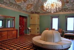 Yusupov slott i Moskva. Den heraldiska korridoren. Arkivfoto