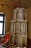 Yusupov slott i Moskva. Mikrovåg i biskopsstolrummet. Arkivbild