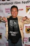 Yutaka Ikejima en los Boobs y la noche de la inauguración internacional del festival de película de la sangre, nuevo cine de Bever Fotografía de archivo libre de regalías